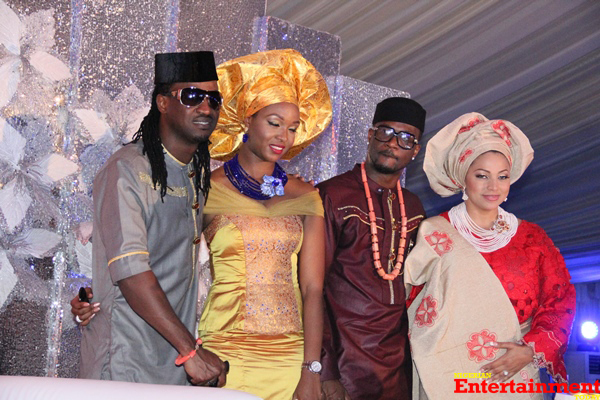 Peter-Okoye-weds-Lola-Omotayo-Paul-Okoye-with-fiancee-Anita-and-the-couple-copy