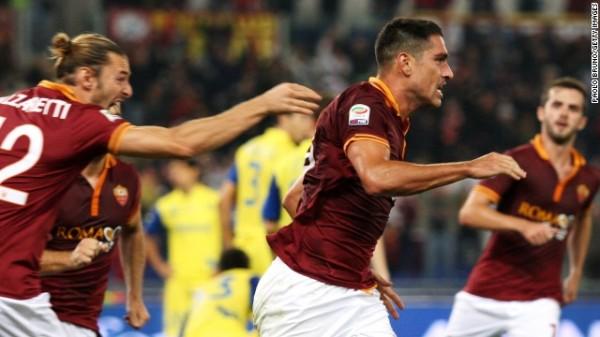 Getty Image: Roma Celebrates Marco Boriello's Goal.
