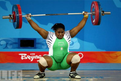 A Nigerian Weightlifter.