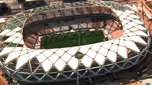 Arena Amazonia, One of the 12 World Cup Stadiums Under Construction in Brazil.