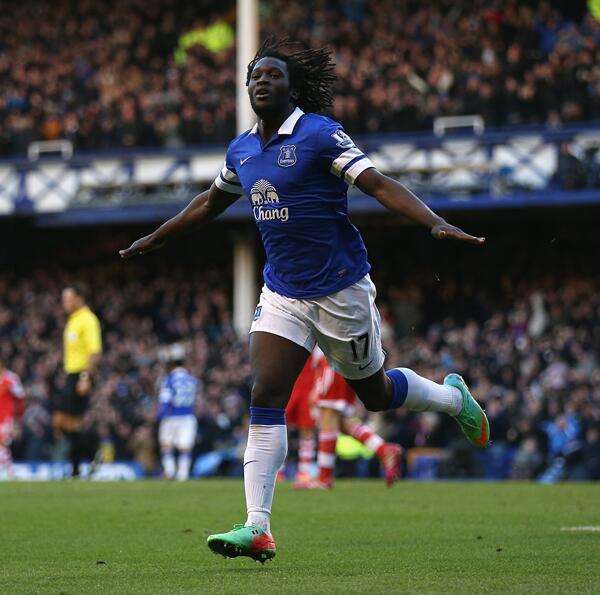 Romelu Lukaku Celebrates is Goal Against Southampton.