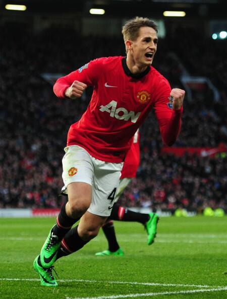 Januzaj Races to the Sideline After Scoring United's Second Goal Against West Ham