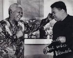 Mohammed Ali with Mandela