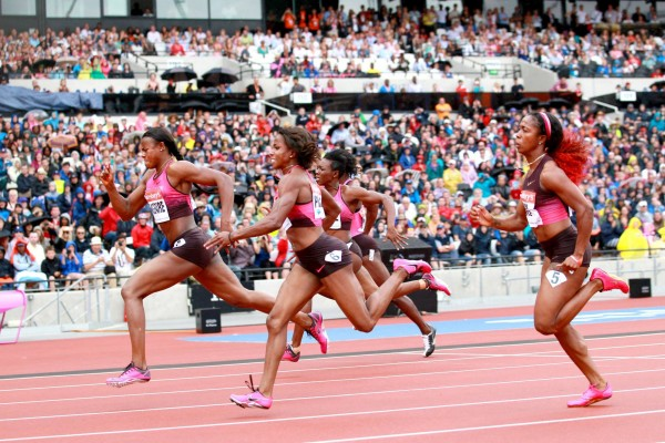 Image: Getty. Okgbare Breaks Gloria Alozie's African Record at the London 2012 Anniversary Games in July.