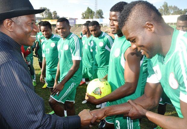 No. 1 Fan: President Jonathan has Been Supportive of the Super Eagles- Even Visiting the Squad in Camp.