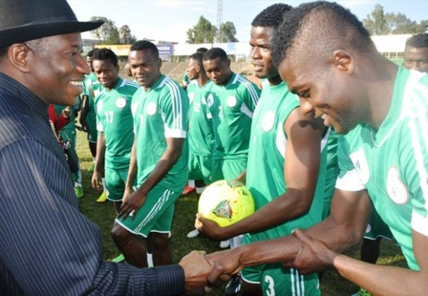 President Jonathan Visits Eagles in Addis Ababa.