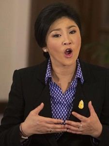 Embattled Prime Minister, Yingluck Shinawatra