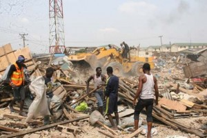 Abattoir Market, Agege levelled by Task force on the environment