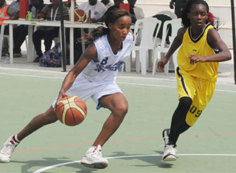 Young Female Basketballers.