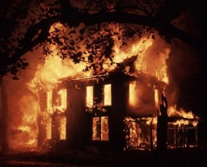 file photo: house on fire