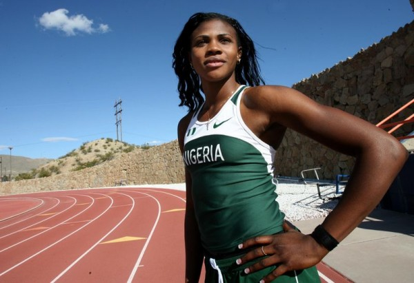 Blessing Okagbare. Nigerian Track and Field Athlete.
