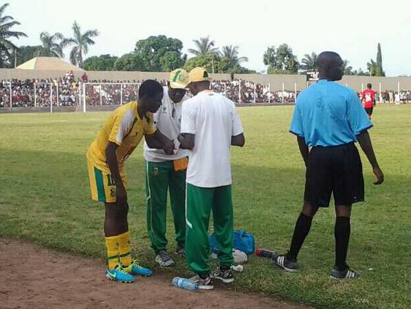 Kano Pillars' Rabiu Ali Receives Treatment During Matchday 38 Final Fixture.