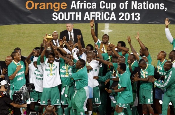 The Super Eagles of Nigeria, Winners of the 2013 Afcon.