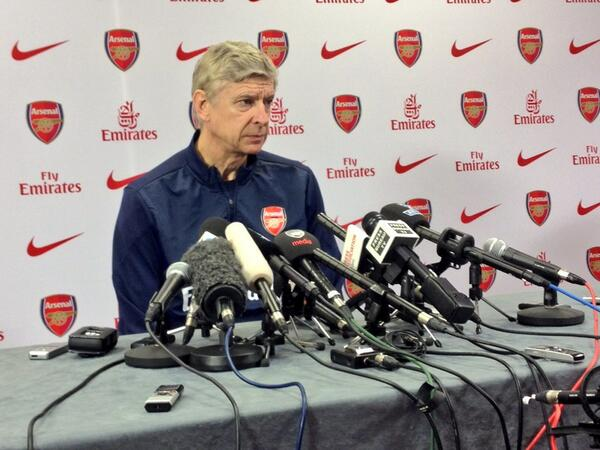 Arsene Wenger Answers Questions During His Press Conference Ahead of Their FA Cup Third-Round Clash With Spurs.
