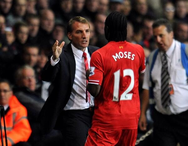Brendan Rodgers is Glad Having Victor Moses.