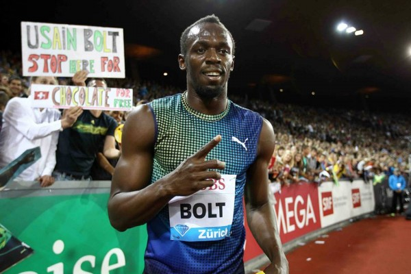 Bolt Clinches the 200m of the 2013 Areva Meeting. © Jeane-Pierre Durand.