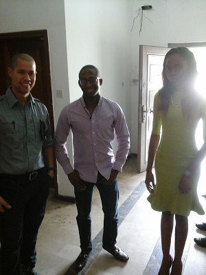 CNN's Vladimir Duthiers, Easy Taxi MD Bankole Cardoso and PR Manager Tomiwa Oladele