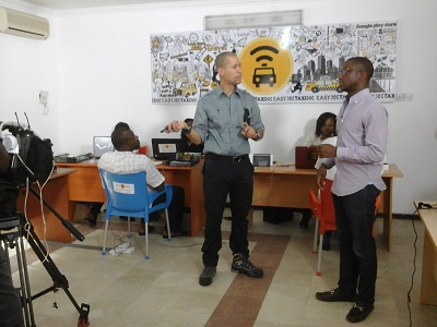 CNN's Vladimir Duthiers and Easy Taxi MD Bankole Cardoso