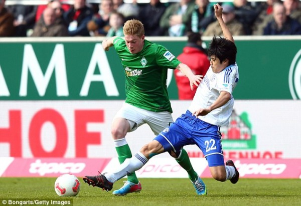 Kevin De Bruyne Spent the Whole of the 2012/13 Season at Werder Bremen. Getty Image.