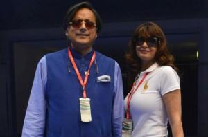 Sunanda Pushkar and husband, Shashi Tharoor