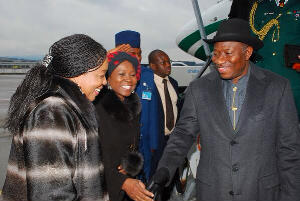 Jonathan arriving Switzerland for World Economic Forum