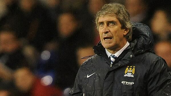 Pellegrini Sweats on Aguero, Who is With What Looked a Hamstring Problem.