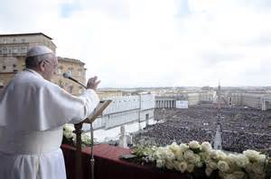Pope Francis addressing multitude
