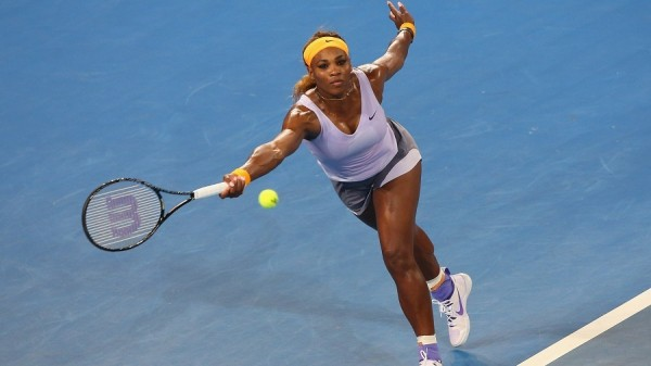 Serena Williams Beat Sharapova to Reach the Brisbane International Final. (Photo by Chris Hyde/Getty Images)