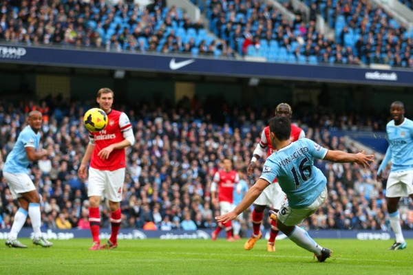Aguero Suffered a Calf Injuey During Last Month's 6-3 Win Over Arsenal.