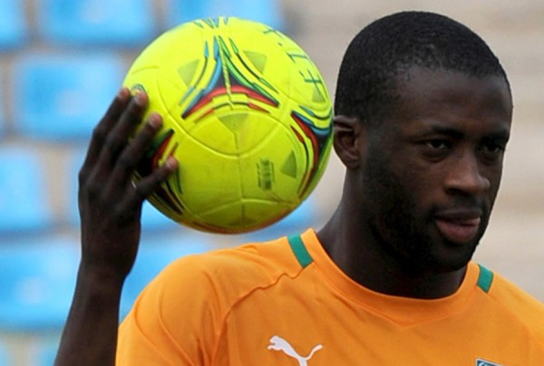 Yaya Toure of Cote d'Ivoire ( Caf Player of the Year 2010-13).