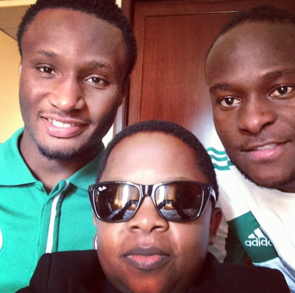 COOL! Nollywood Star Spotted With Mikel Obi and Victor Moses (PHOTO)