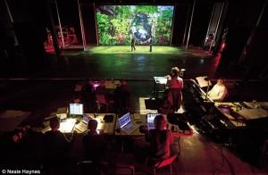 An opera stage setting...