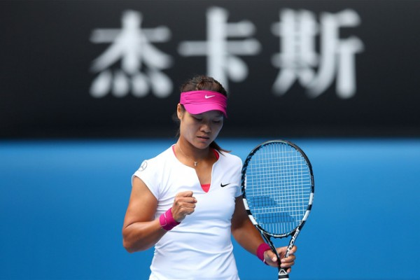 Li Na Sees Off Flavia Panetta Into Australian Open Semis. Getty Image.