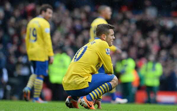 Jack Wilshere Returned To Wenger's Starting Lineup for the First Time on The Faithful Day They Lost 5-1 at Anfield.
