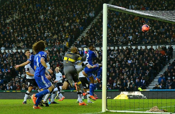 Mikel Scores Second Goal of the 2013/14 Season Against Derby County. Getty Image.