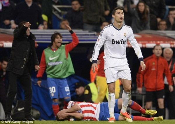 Cristiano Ronaldo Was Hit With a Coin During Half-Time of Their 2-0 Win at Atletico.