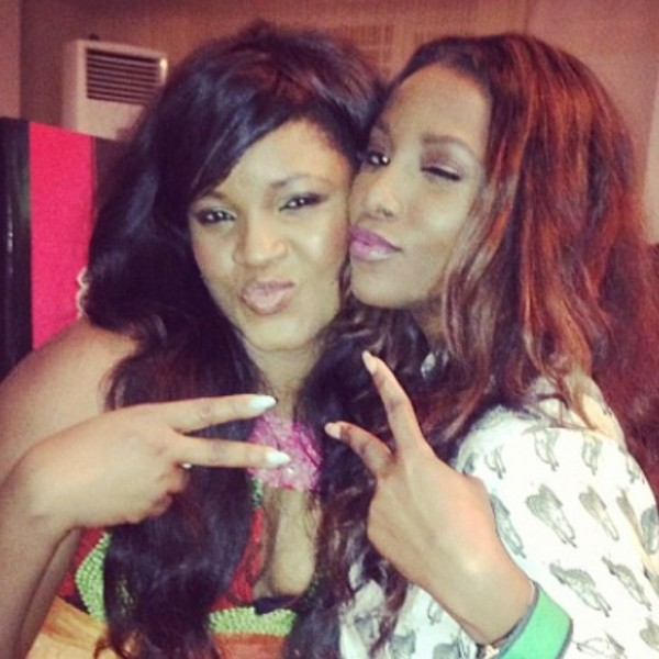 NO RIVALRY: SEE Genevieve Nnaji's Message To Omotola On Her Birthday