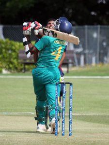 A Nigerian Batsman in Action.