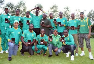 The Nigeria Senior National Cricket Team Poses For a Group Photograph.