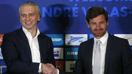 Andres Villas-Boas Unveiled as New Zenit Boss.