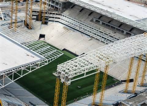 The Arena Corinthians Which Will Host the Opening Game is Still Behind Schedule.