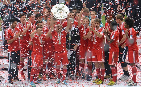 Bayern Won the  Bundesliga Last Season With Six Games To Spare.