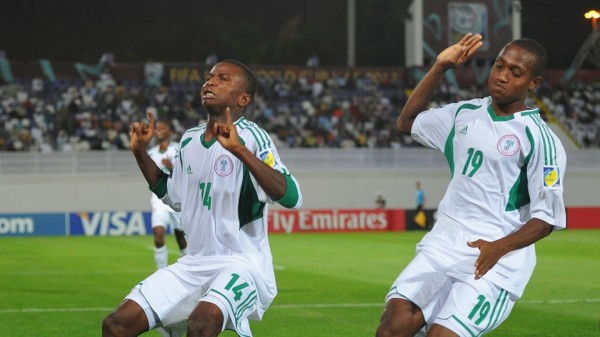 Chidiebere Nwakali Celebrates Scoring At the 2013 Fifa U-17 World cup in the UAE.