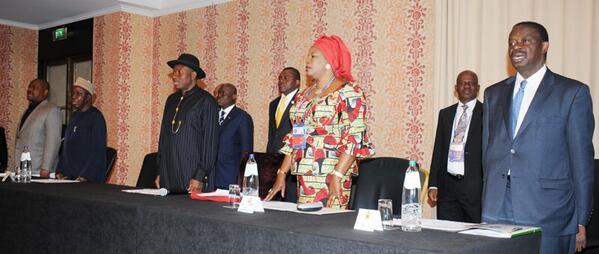 PRESIDENT JONATHAN AT A MEETING WITH REPRESENTATIVES OF THE NIGERIAN COMMUNITY IN THE NETHERLANDS, SUNDAY
