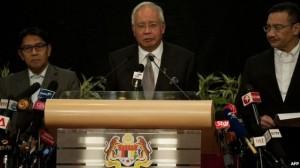 Najib Razak, Malaysia PM breaking the bad news