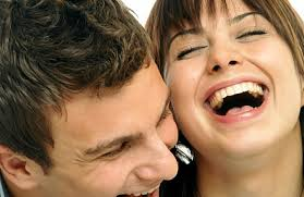 couples laughing