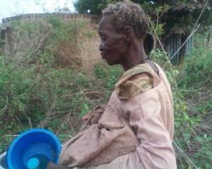 One of the rescued victims believed to have been bewitched in Soka, Oluyole local government area of Oyo State.