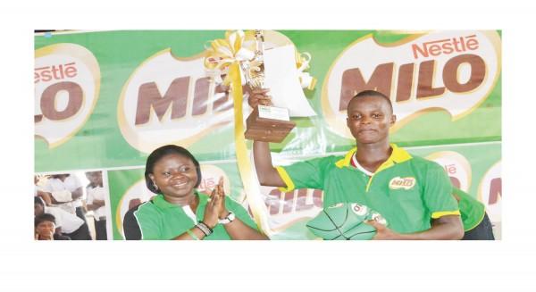 Trophy Presentation at the 15th Nestle Milo Secondary School Basketball Championship.