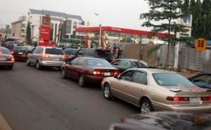 queue for fuel