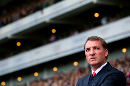 Brendan Rodgers Watches From the Sideline During Liverpool's 1-2 Win Over West Ham at Upton Park
